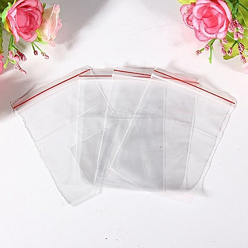 "100x Jewelry Ziplock Zipped Lock Reclosable Plastic Poly Clear Bags 2.75""X1.8"""