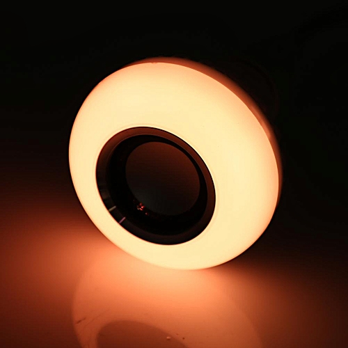 Wireless LED RGB Bluetooth Speaker Bulb With Remote Control