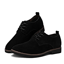Luxury Suede Leather Boots For Men- Black