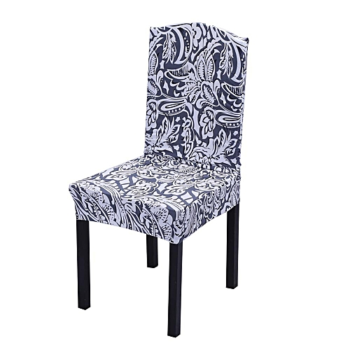 Spandex Stretch Chinese Element Pattern Print Chair Covers Slipcovers #4