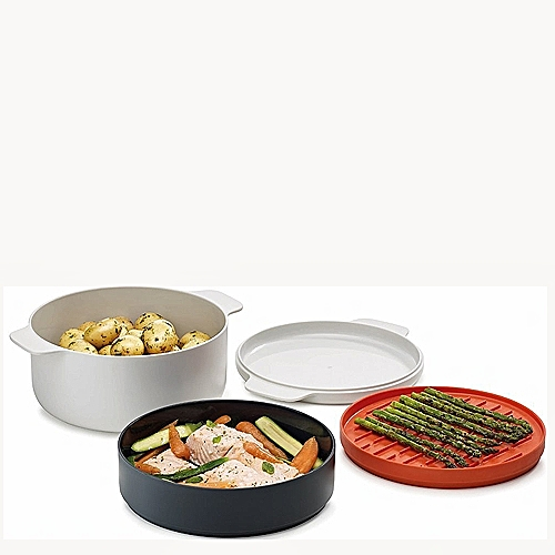 Deluxe Kitchen Helper 4 In 1 Microwave Cooking Steamer