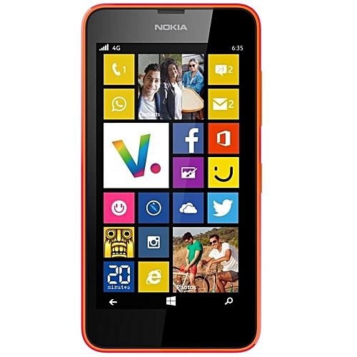 "(ORANGE)Nokia Lumia 635 Windows Phone 4.5"" Quad Core 1.2GHz 8G ROM 5.0MP WIFI GPS 4G LTE Smartphone"
