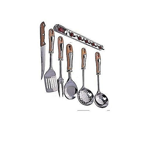 Complete Kitchen Spoon Set With Hanger