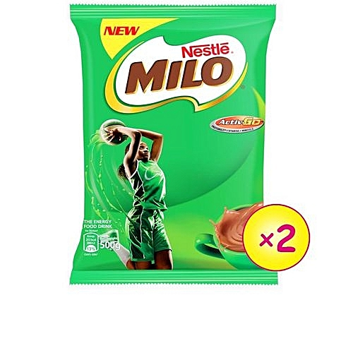 Milo Hot Chocolate Refill - 500g (X2)