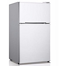 Hoomex- Double Door Fridge Reversible Door - HM128 White height=220