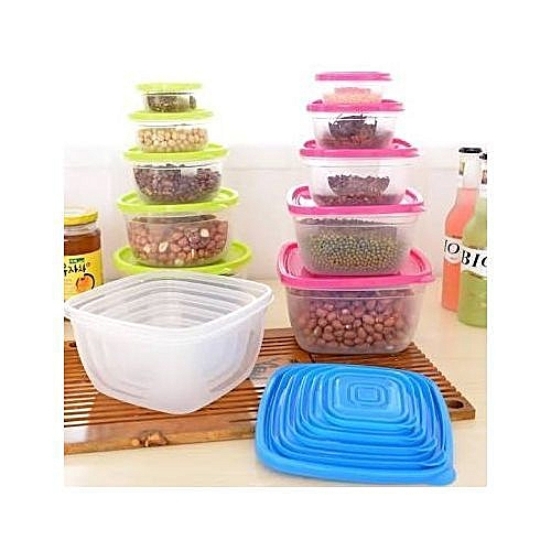 5-in-1 Set Refrigerator Storage Plastic Containers