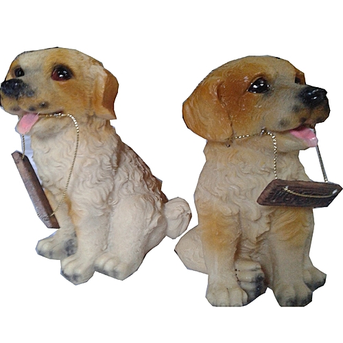 Dog Figurine -2pieces- 6:4inches(length: Width)