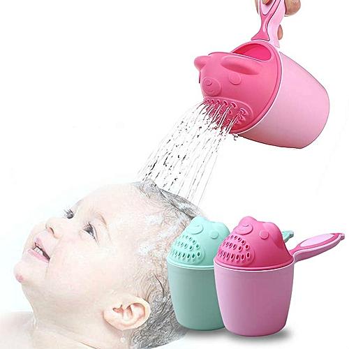 Baby Cartoon Bear Bathing Cup Newborn Kid Shower Shampoo Cap Nailer Baby Shower Water Spoon Bath Wash Cup