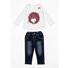 Babaluno Bear Jeans /& Top Set