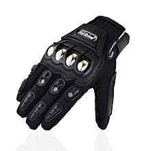 Motorcycle Biker Gloves Men Women Alloy Case Hands Protective Guard Anti Slip Glove - Black