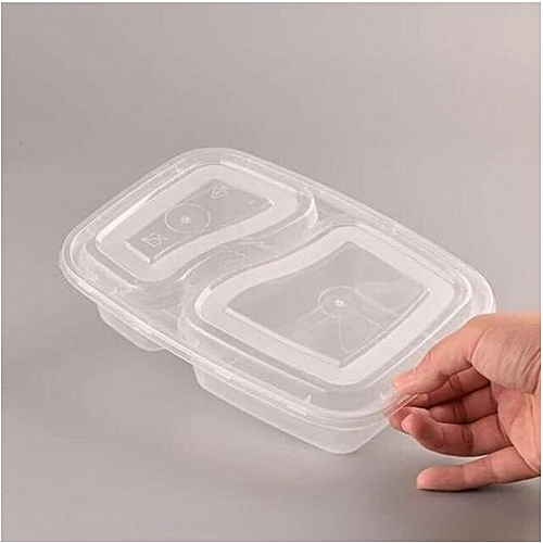 50 Food Container, Plastic,Disposable Plate,50 Pieces
