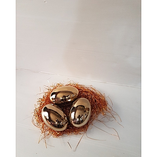 Golden Ceramic Egg Decoration