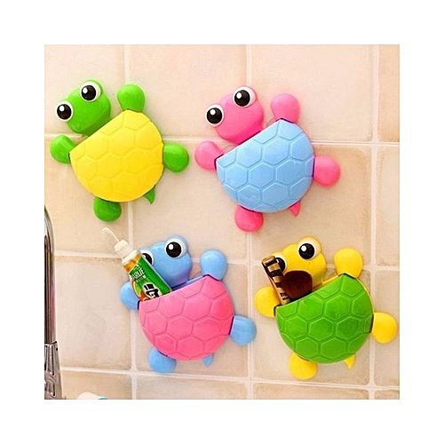 Universal  4 sets Turtle Toothbrush & Toothpaste Holder