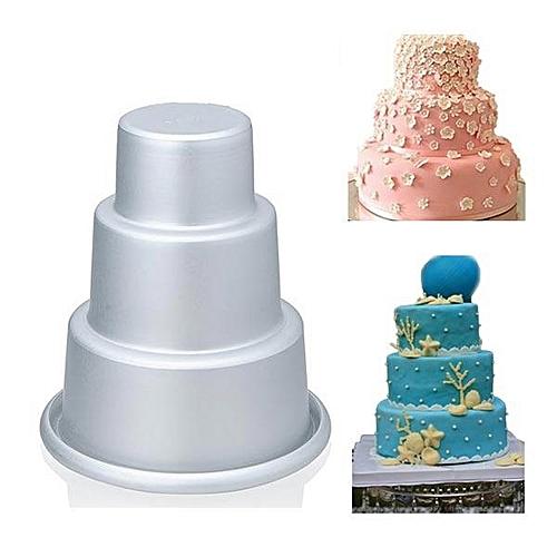 H504 Three-Tier Cupcake Pudding Chocolate Cake Mold Baking Pan Mould