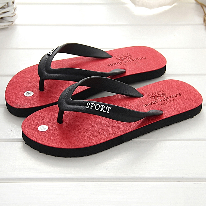 eca06ca0094bb9 ... Gift Tectores Men s Summer Flip-flops Slippers Beach Sandals  Indoor Outdoor Leisure Shoes ...