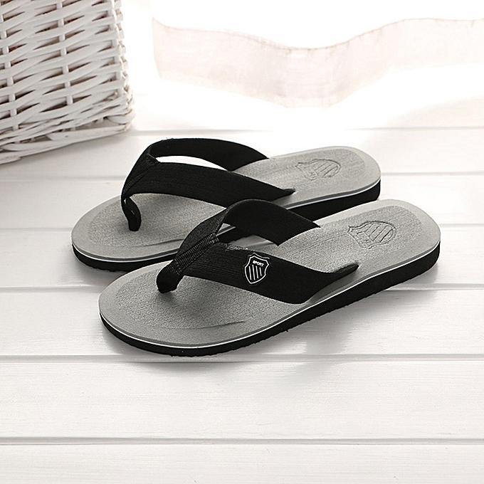 bab79b745af34 Fashion Men s Summer Casual Flip-flops  Slippers - Grey
