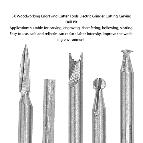 5X Woodworking Engraving Cutter Tools Electric Grinder Cutting Carving Drill Bit Broca Madeira Diamond Drill