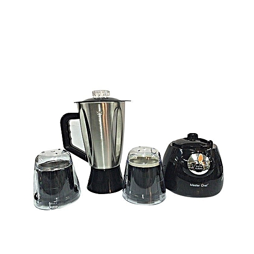 3 In 1 Stainless Blender With Plastic Mills- Black