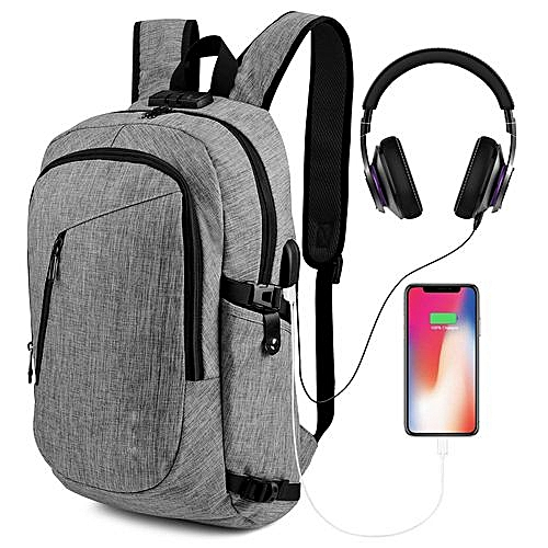 "Anti Theft Laptop Backpack, Travel Computer Bag For Women & Men, Anti Theft Water Resistant College School Bookbag, Slim Business Backpack W/USB Charging Port Fits UNDER 17"" Laptop & Notebook"