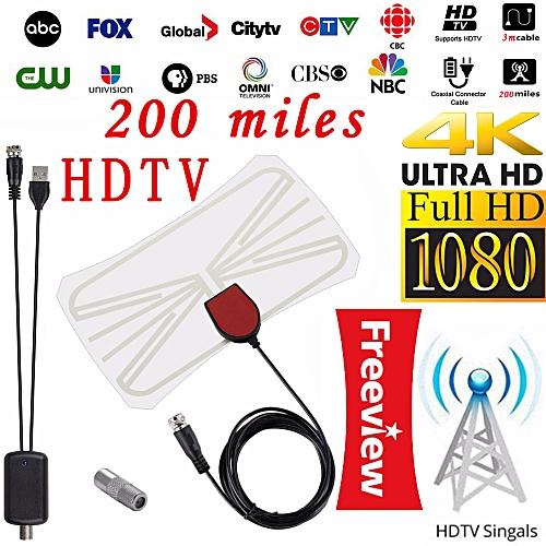 Digital HD TV Antenna With Signal Amplifier Booster HDTV 4K