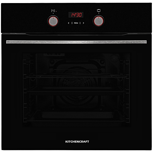 60cm Built In Electric Oven Black - Illuminated Knobs -Smart Series - BOi625