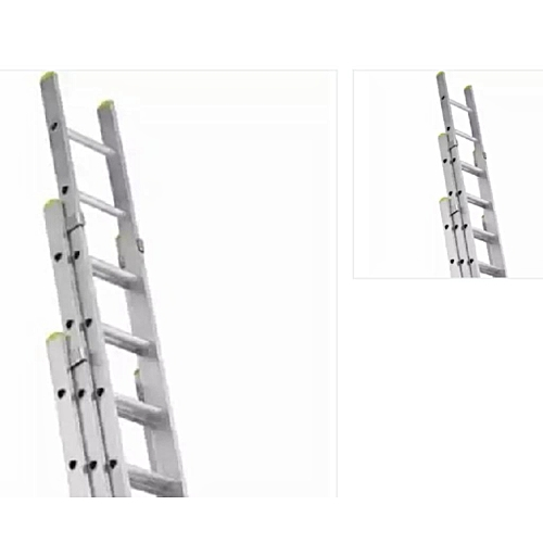 3 Section Aluminium Extension Foldable Ladder