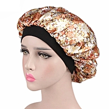 5b5463fbbe7 Satin Bonnet Hair Anti-breakage Sleep Cap - Mustard Roses