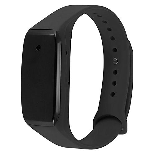 1080P HD Hidden Watch Camera Wristwatch Mini DV Camcorder Recorder Wristband Black