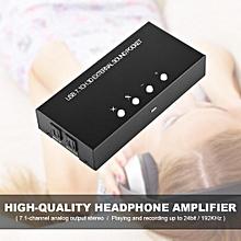 External Sound Card USB 2.0 External Digital Audio Adapter USB 7.1 Surround Sound Box Optical Fiber