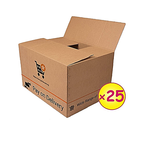 25 Medium Branded Cartons (004-2) (343x179x127mm)