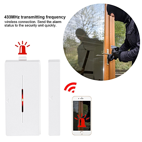 433MHz Door Magnetic Contact Wireless Sensor Detector Switch For Home Office Alarm Security