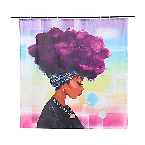 Bathroom Shower Curtain Digital Printing African Waterproof Polyester 71''x71""