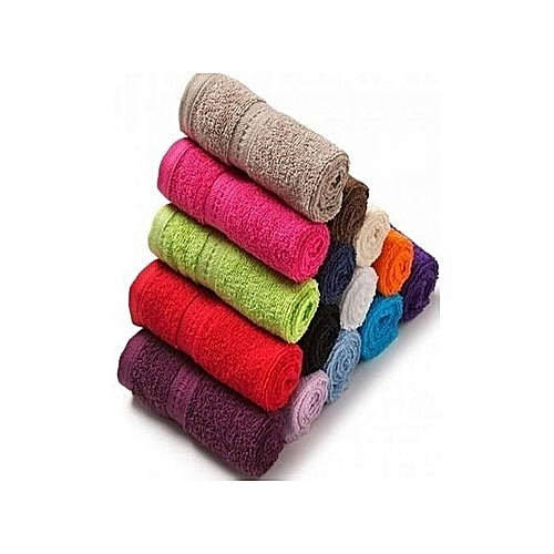 Kitchen / Hand And Face Towels -Pack Of 12 - Multicolour
