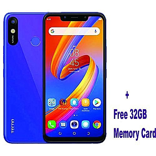 Spark 3 6 2-inch, IPS LCD Capacitive Touchscreen Aqua Blue + Free 32GB  Memory Card