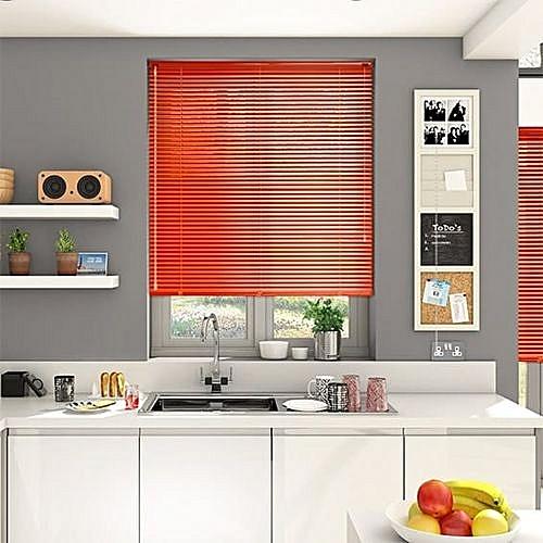 Aluminium Venetian Window Blinds (Orange) Prepaid Only