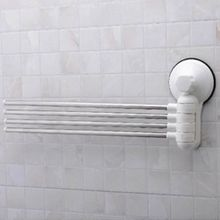 wall mounted suction cup stainless steel towel bar rotatable towel rack holder for bathroom home d