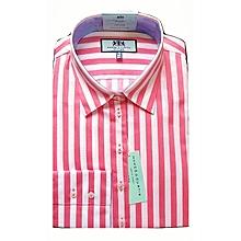 93c718f6d0a31 Women  039 s Pink  amp  White Stripe Semi Fitted Shirt - Single Cuff
