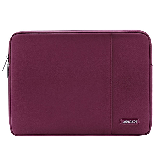 Mosiso 2017 / 2016 MacBook Pro 13 Inch Sleeve (A1706/A1708) / Microsoft New Surface Pro 2017 / Surface Pro 4 / 3 Polyester Water Repellent Vertical Laptop Bag Case Cover With Pocket, Wine Red
