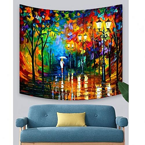 Forest Character Print Tapestry -Yellow