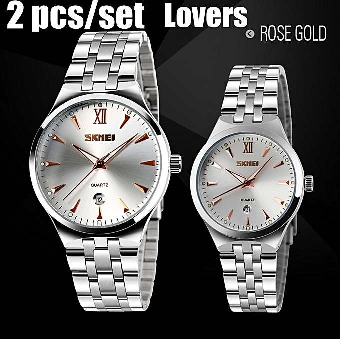 Skmei Couple S Wrist Watch Set 2pcs Luxury Brand Lovers Watch Men