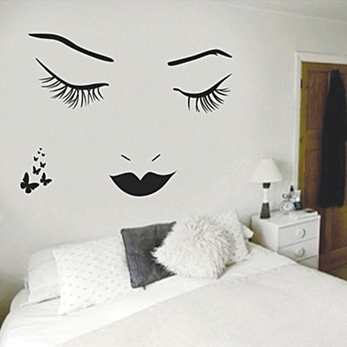 generic eyelashes wall stickers diy wall quote sticker decal home