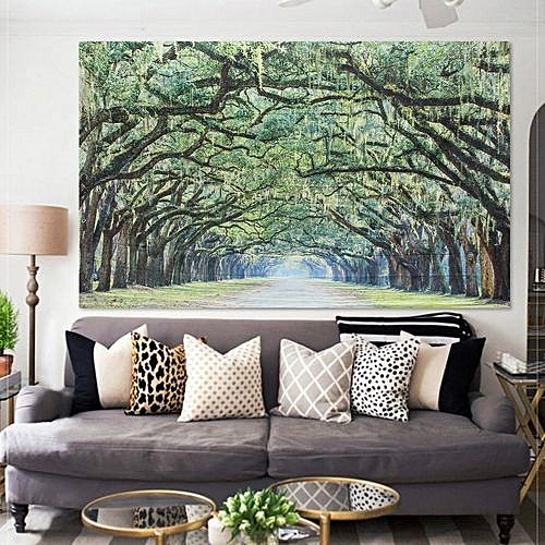 229x153cm/90.1x60.2inch Indian Wall Hanging Green Tree Of Life Tapestries Yoga Mat Bedspread