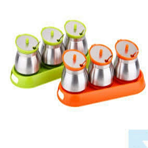 3pc Spice Canister Set - Multicolor
