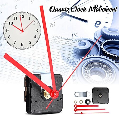 2 Type Quartz Silent Clock Movement Mechanism Module Kit Hour Minute Second Hand