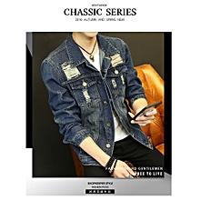 cd92ee585b83b Denim Jacket Men  039 s Spring fall Baseball Flight Suit Casual Plat Size
