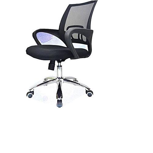 Chrome Leg Executive Office Chair - Black