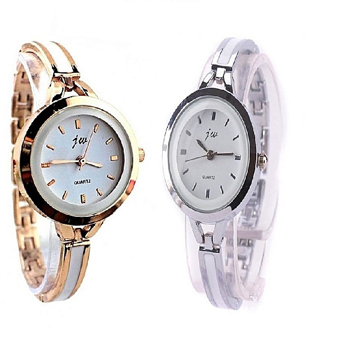 f94382f86cba JW 2 In 1 Tiny Bracelet Fitted Ladies Watch - Silver And Rose Gold ...