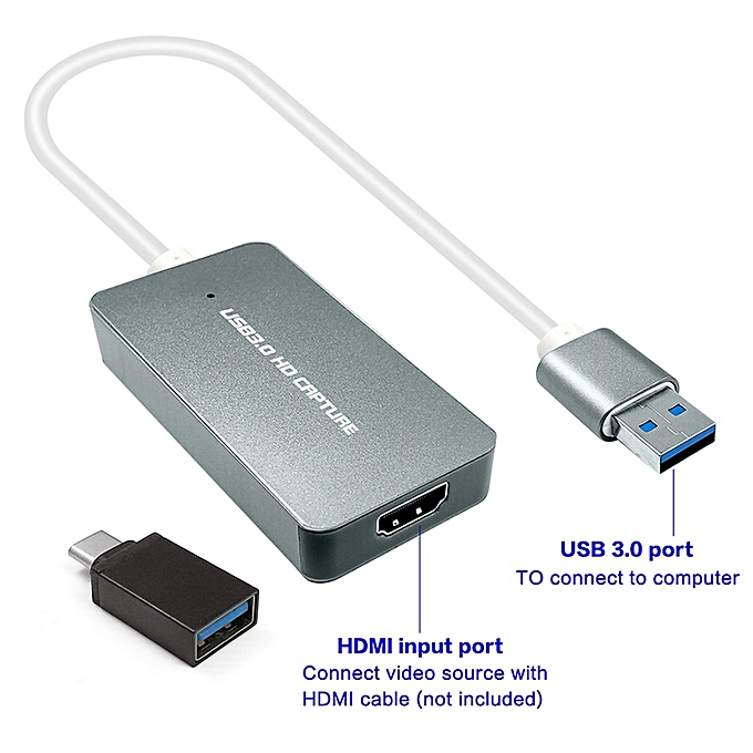 USB 3 0 1080P 60fps HDMI Video Capture Card Recording Game Live Video  Streaming For Windows/Linux/Mac HDMI Capture Dongle