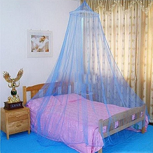 Outdoor Round Lace Insect Bed Canopy Netting Curtain Hung Dome Mosquito Nets Blue
