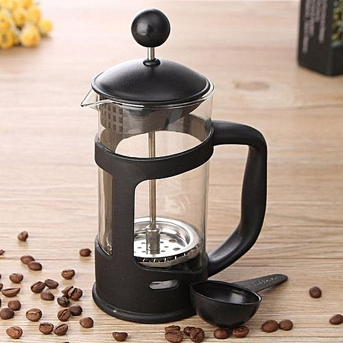 350ML French Press Tea Coffee Plunger Heat-resistant Glass